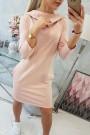 Šviesiai rožinė suknelė su kišenėmis