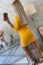Ryškiai oranžinė trumpa suknelė