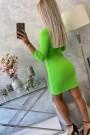 Salotinės spalvos trumpa suknelė