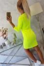 Geltona neoninė suknelė