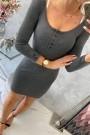 Tamsiai pilka mini suknelė