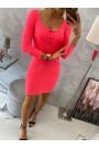 Rožinė neoninė mini suknelė