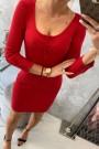 Raudona mini suknelė