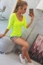 Geltona neoninė palaidinė
