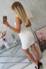 Balta suknelė be rankovių