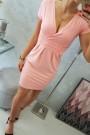 Šviesiai rožinė suknelė trumpom rankovėm