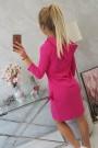 Rožinė suknelė su kišenėmis
