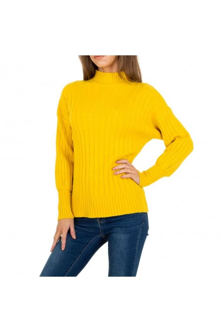 Damen Strickpullover von JCL Gr. One Size - yellow