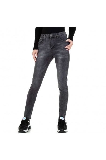 Damen High Waist Jeans von Laulia - grey