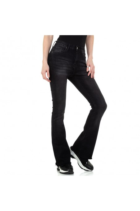 Damen Bootcut Jeans von Colorful Denim - black