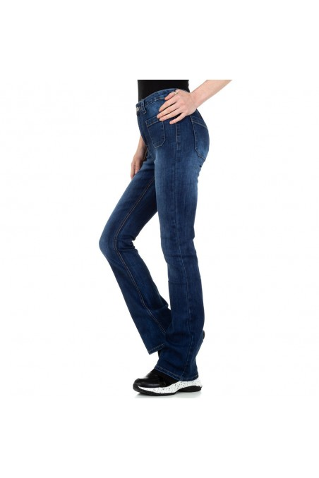 Damen Bootcut Jeans von Colorful Denim - blue