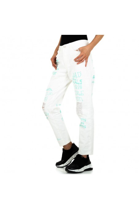 Damen Boyfriend Jeans von Redial Denim - white