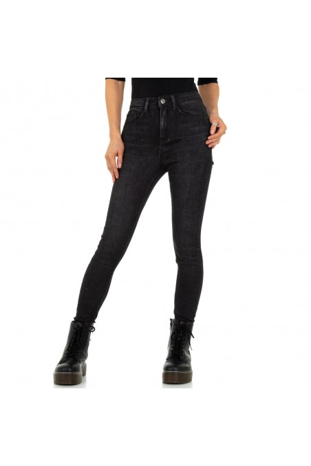 Damen High Waist Jeans von Daysie - black
