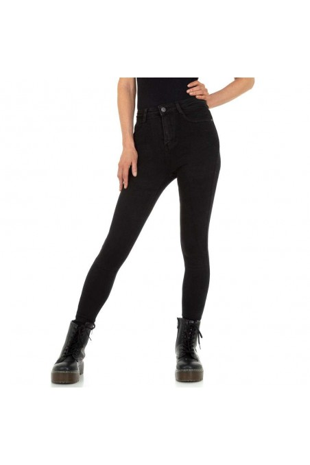 Damen High Waist Jeans von - black