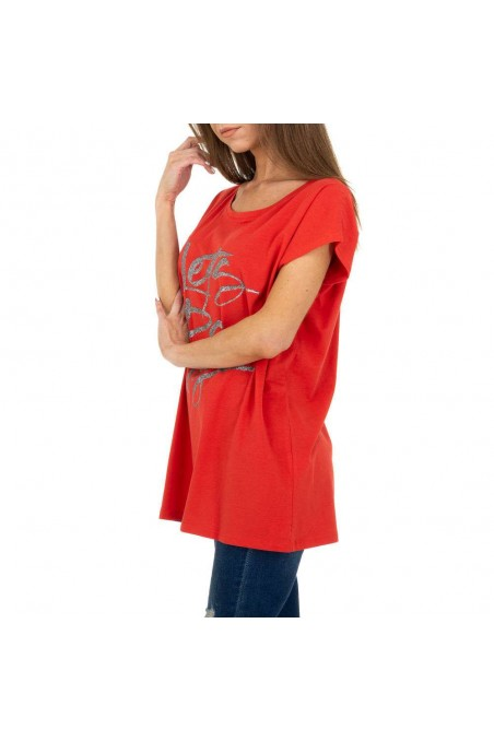 Damen T-Shirt von Glo Story - red