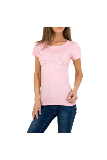 Damen T-Shirt von Glo Story - rose
