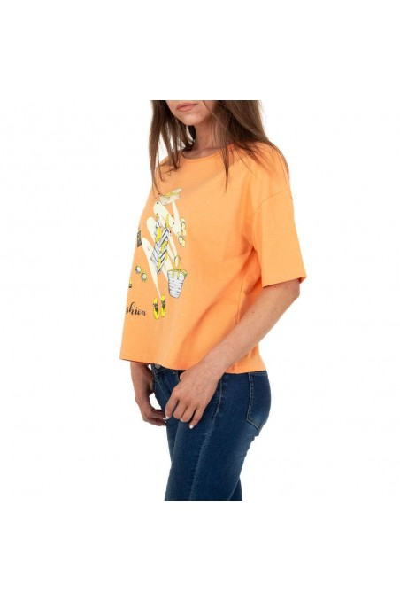 Damen T-Shirt von Glo Story - orange