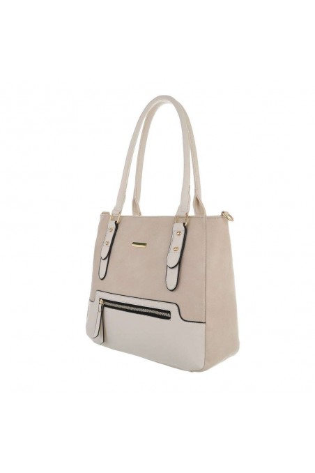 Damen Schultertasche - beige
