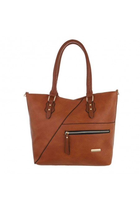 Damen Schultertasche - cuoio