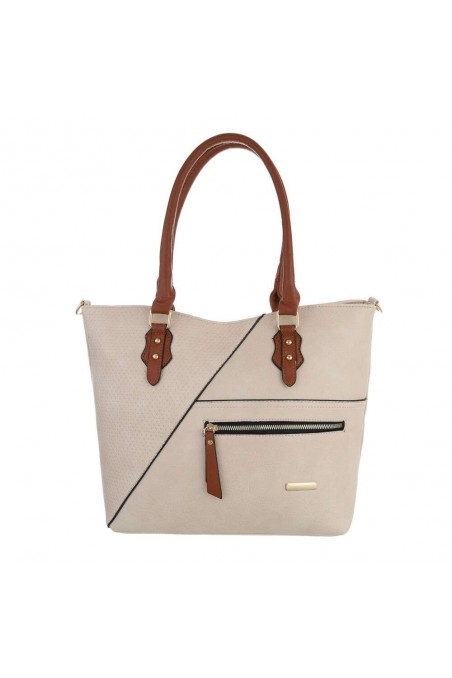 Damen Schultertasche - taupe