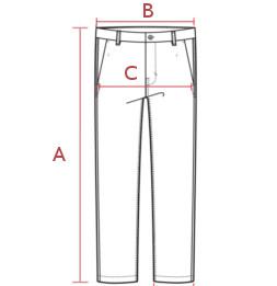 Moteriškų džinsų išmatavimai