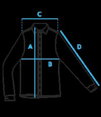 Vyriškų marškinių išmatavimai